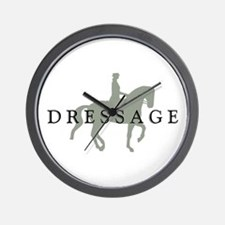 Piaffe w/ Dressage Text Wall Clock