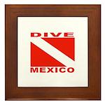 Dive Mexico Framed Tile