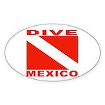 Dive Mexico Oval Sticker