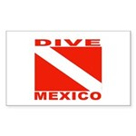 Dive Mexico Rectangle Sticker