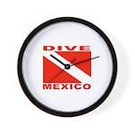 Dive Mexico Wall Clock
