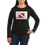 Dive Mexico Women's Long Sleeve Dark T-Shirt