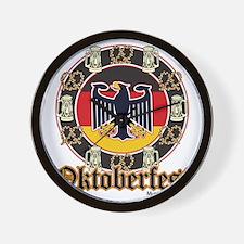 Oktoberfest Beer and Pretzels Wall Clock