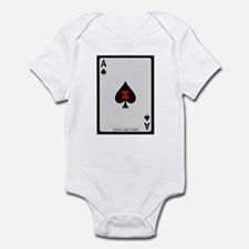 Ace of Spades Card Infant Bodysuit