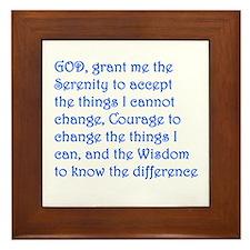 Framed Serenity Prayer Framed Tile