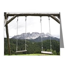 Swings overlooking the Alps, Note Cards (Pk of 20)