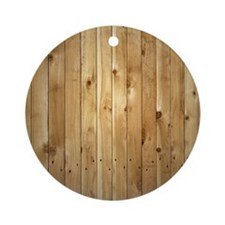 Wood fence Round Ornament