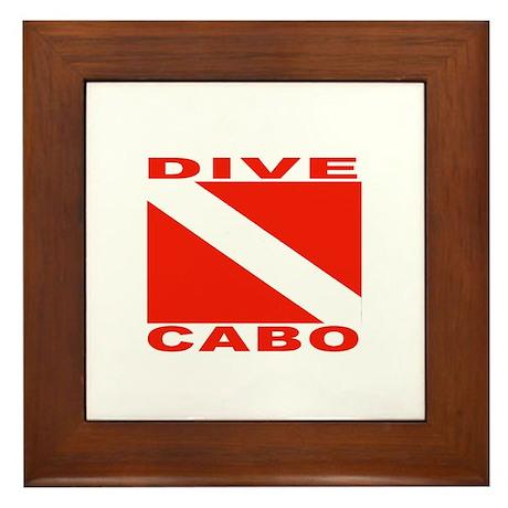 Dive Cabo Framed Tile