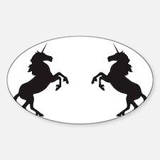 Twin Unicorns Decal