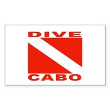 Dive Cabo Rectangle Decal
