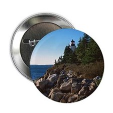 "Lighthouse on shore 2.25"" Button"