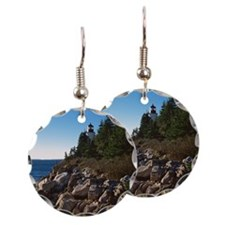 Lighthouse on shore Earring