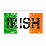 Irish Flag distressed Rectangle Sticker