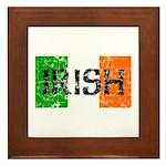Irish Flag distressed Framed Tile