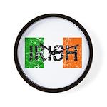 Irish Flag distressed Wall Clock
