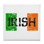 Irish Flag distressed Tile Coaster