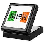 Irish Flag distressed Keepsake Box