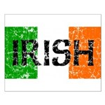 Irish Flag distressed Small Poster