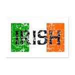 Irish Flag distressed Mini Poster Print