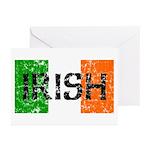 Irish Flag distressed Greeting Cards (Pk of 10
