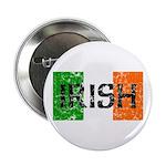 Irish Flag distressed Button