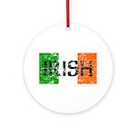 Irish Flag distressed Ornament (Round)