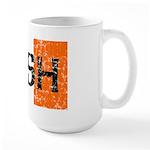 Irish Flag distressed Large Mug