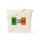 Irish Flag distressed Tote Bag