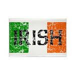 Irish Flag distressed Rectangle Magnet