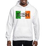 Irish Flag distressed Hooded Sweatshirt