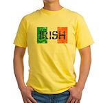 Irish Flag distressed Yellow T-Shirt