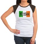 Irish Flag distressed Women's Cap Sleeve T-Shirt