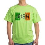 Irish Flag distressed Green T-Shirt