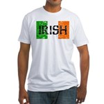 Irish Flag distressed Fitted T-Shirt