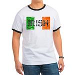 Irish Flag distressed Ringer T