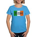 Irish Flag distressed Women's Dark T-Shirt