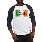 Irish Flag distressed Baseball Jersey