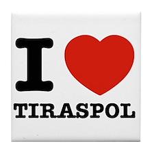 I LOVE TIRASPOL Tile Coaster