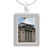 Buckingham Palace Silver Portrait Necklace