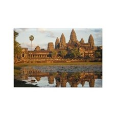 Sunset at Angkor Wat with reflect Rectangle Magnet