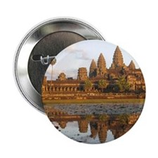 """Sunset at Angkor Wat with reflection  2.25"""" Button"""