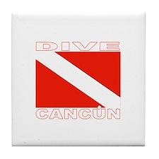 Dive Cancun Tile Coaster