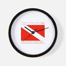 Dive Cozumel Wall Clock