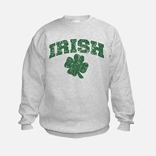 Worn Irish Shamrock Sweatshirt