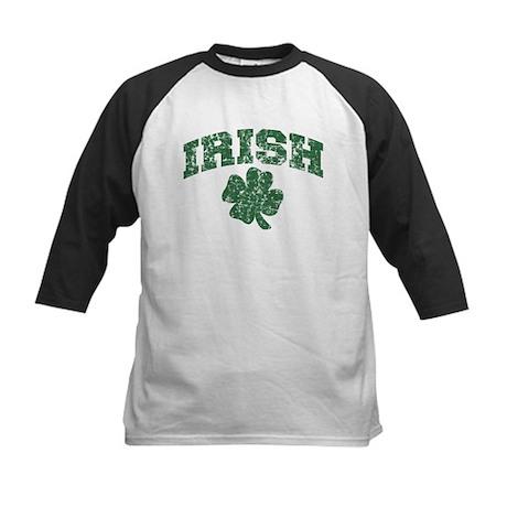 Worn Irish Shamrock Kids Baseball Jersey