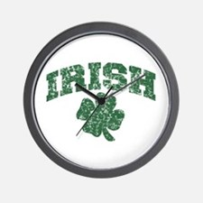 Worn Irish Shamrock Wall Clock