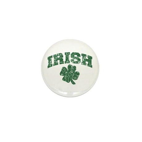 Worn Irish Shamrock Mini Button (10 pack)
