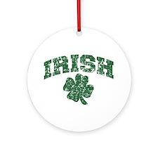 Worn Irish Shamrock Ornament (Round)