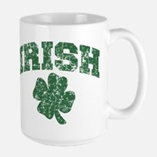 Worn Irish Shamrock Mug
