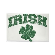 Worn Irish Shamrock Rectangle Magnet